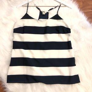 J.Crew Navy/Cream Striped Camisole